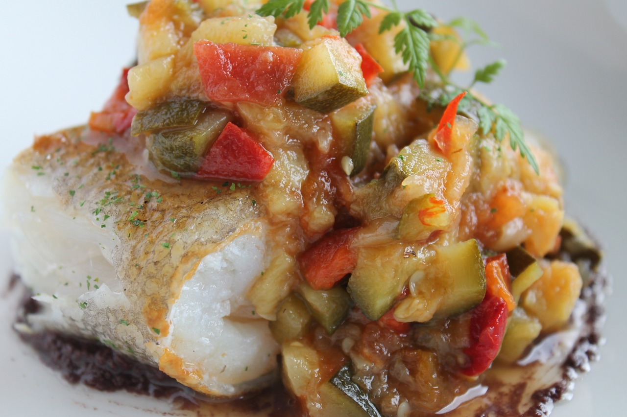 Italiaanse vis uit de oven